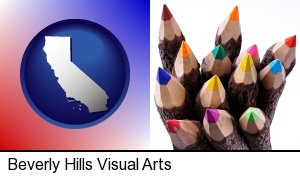 Beverly Hills, California - colored pencils