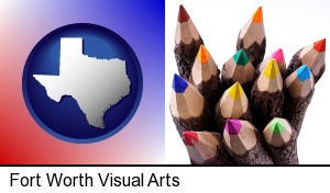 Fort Worth, Texas - colored pencils