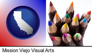 Mission Viejo, California - colored pencils