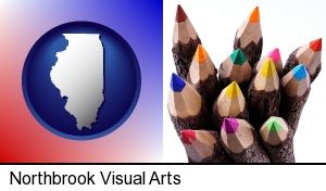 Northbrook, Illinois - colored pencils