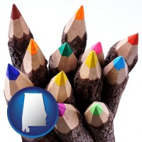 colored pencils - with AL icon