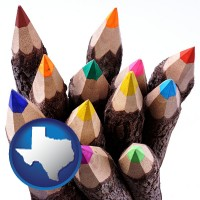 texas colored pencils